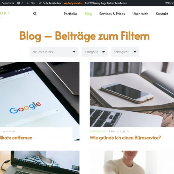 Blog - Beiträge mit Filter (Foto: © P. Taieb)